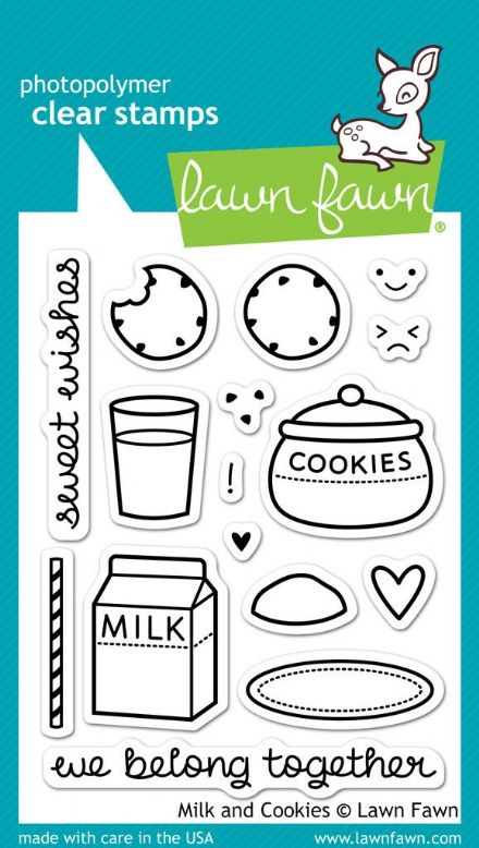 LF0725 M ~ MILK AND COOKIES ~ CLEAR STAMPS BY LAWN FAWN